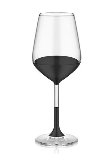 The Mia Dark Şarap Kadehi 6 Lı Set  Siyah